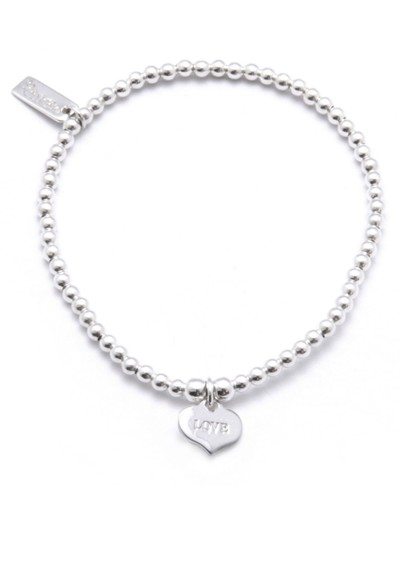 ChloBo Cute Charm Bracelet with Love Always Heart Charm - Silver main image