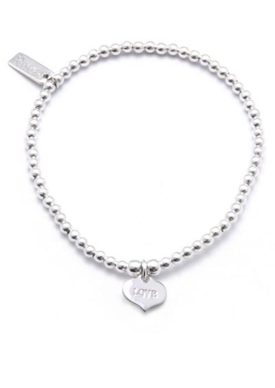 ChloBo Cute Charm Bracelet with Love Always Heart Charm - Silver main image