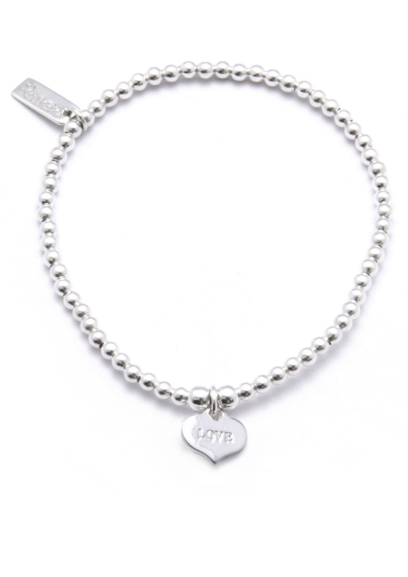 Cute Charm Bracelet with Love Always Heart Charm - Silver main image