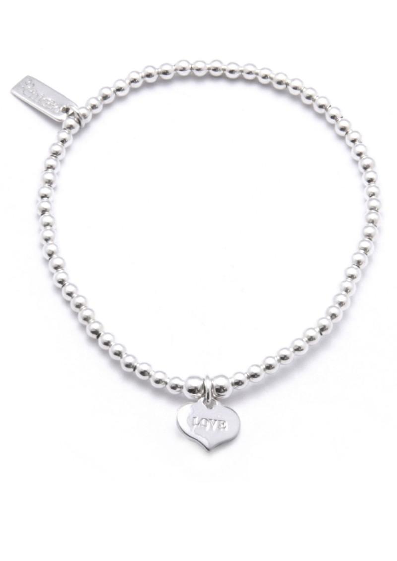 Cute Charm Bracelet with Love Always Heart Charm - Silver main image