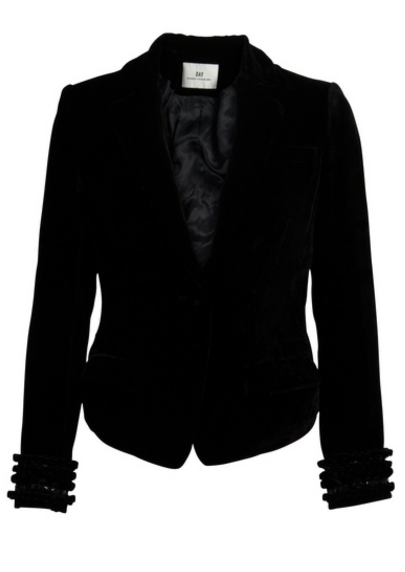 Night Velvet Lounge Jacket - Black main image