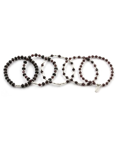 ChloBo Smoulder Bracelets Set of 5 - Silver main image