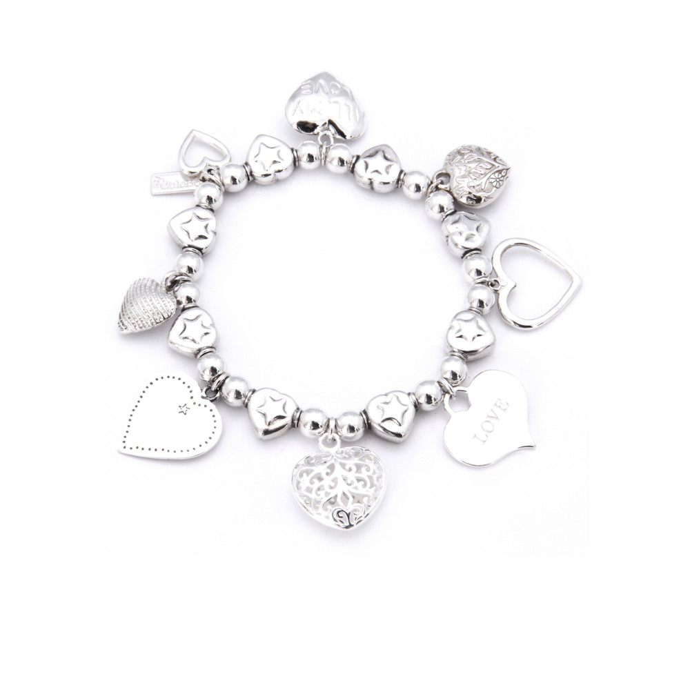 Multi Hearts Charm Bracelet