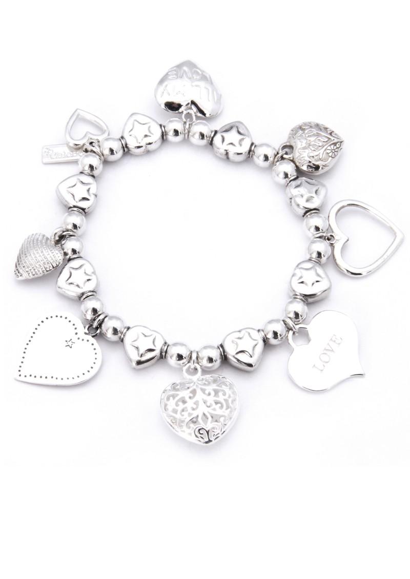 ChloBo Multi Hearts Charm Bracelet main image