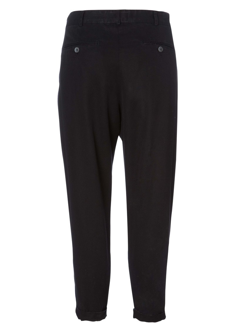 Beetle Pleated Trousers - Black main image