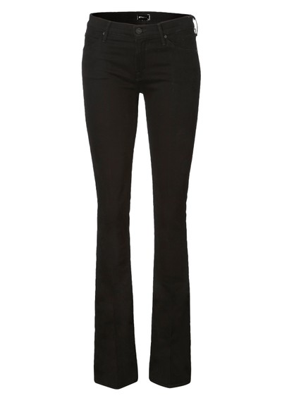 Mother Runaway Skinny Flare - Black main image