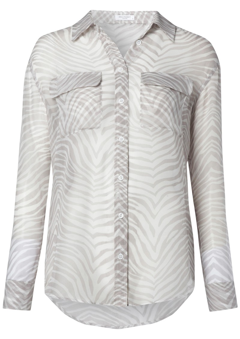 Signature Silk Shirt - Bright White High Rise main image