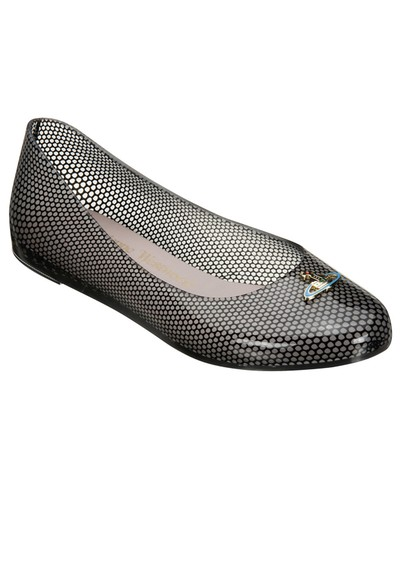 Melissa Vivienne Westwood Wanting Flat Shoe - Black main image