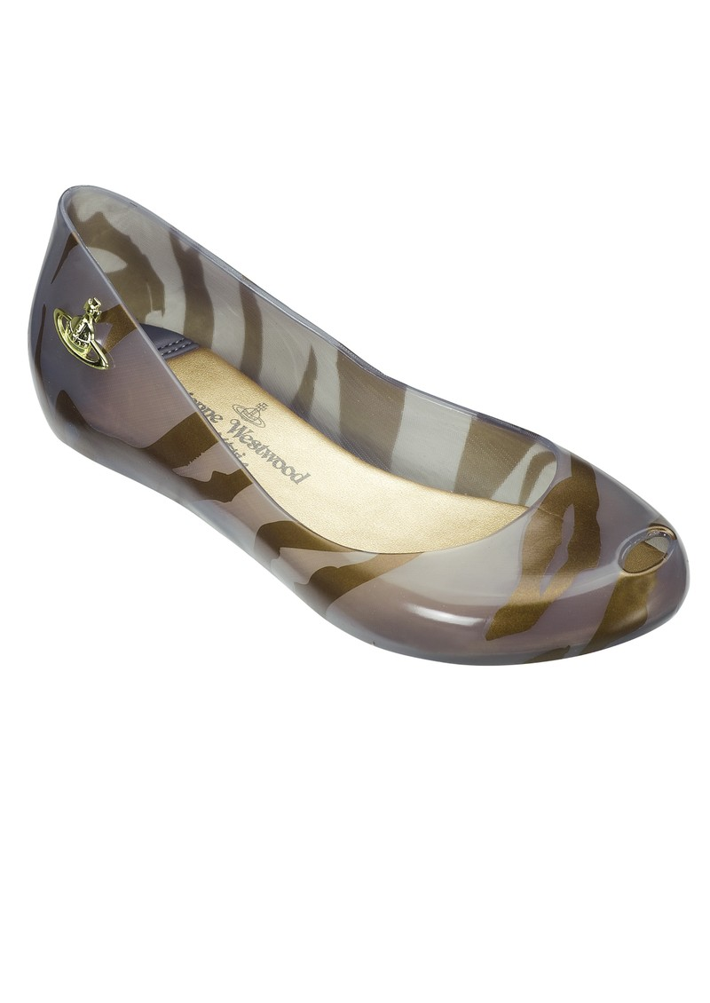 Melissa Vivienne Westwood Ultra Girl Flat Shoes - Smoke main image