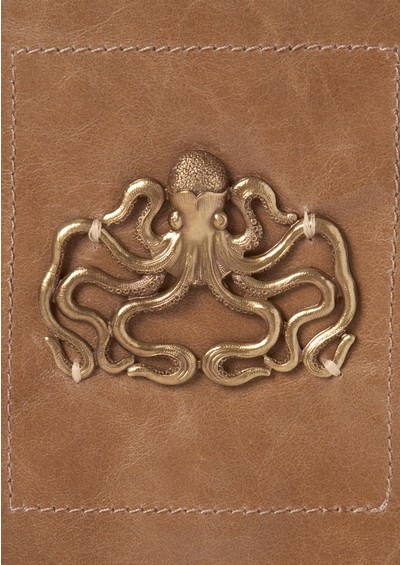 Sous Les Paves Esperanza Hand Bag with Octopus - Taupe main image