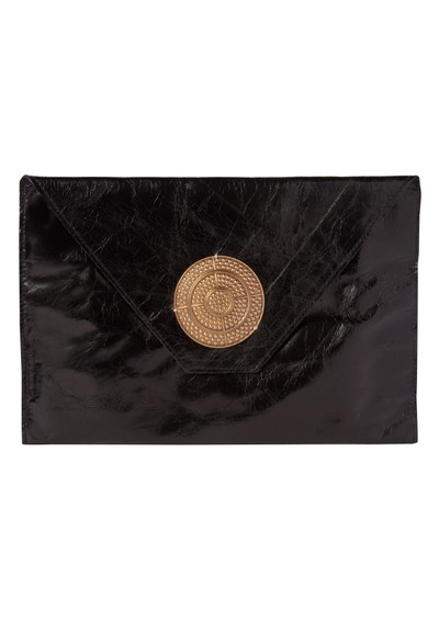 Sous Les Paves Bellini Oversized Clutch Bag With Disc - Black main image