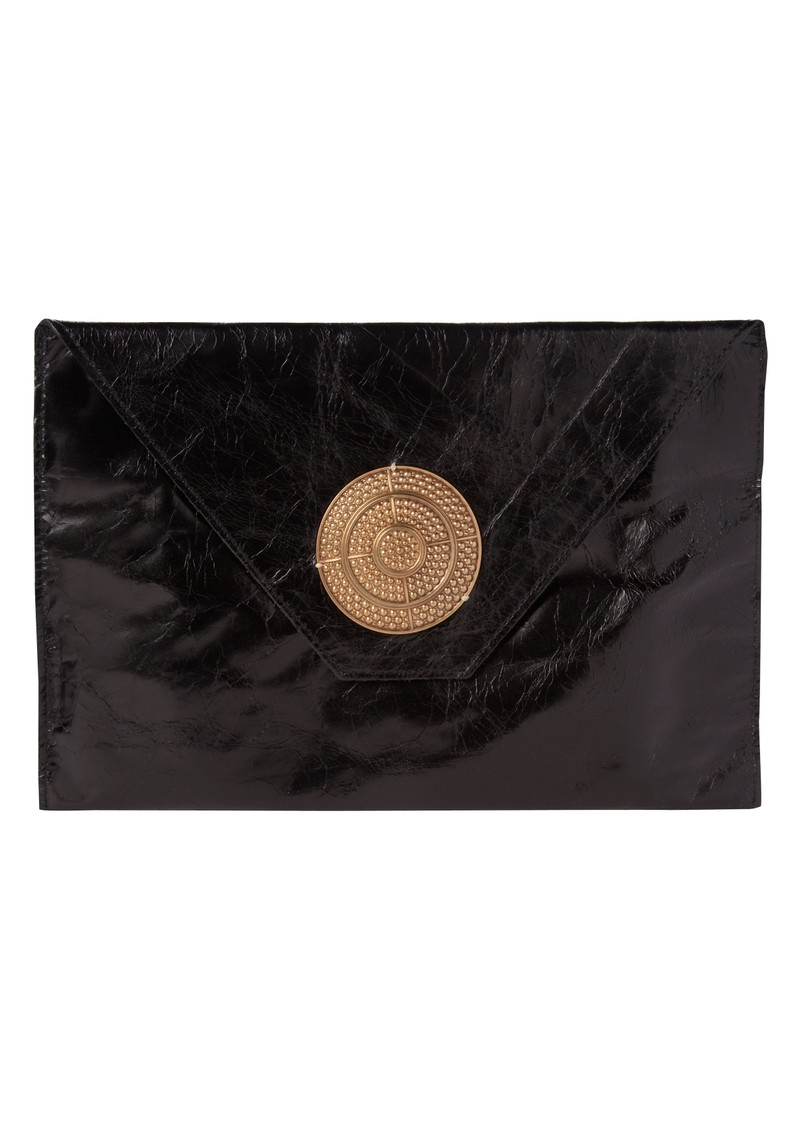 Bellini Oversized Clutch Bag With Disc - Black main image