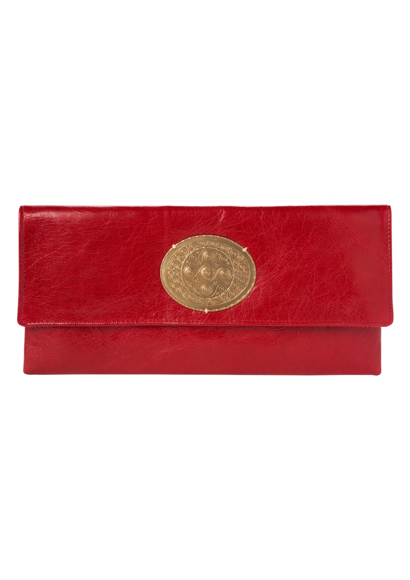 Sous Les Paves Magarita Clutch Bag with Oval - Flamme main image