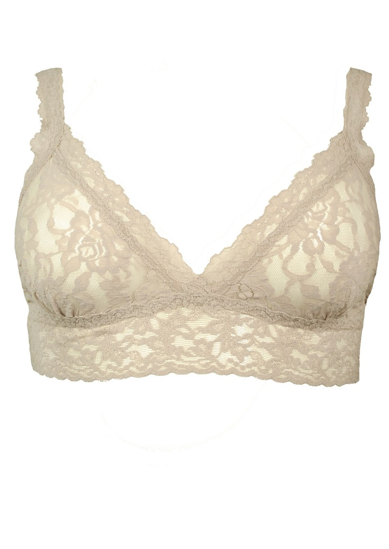 Hanky Panky Lace Bralette - Taupe main image