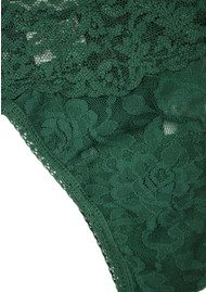 Hanky Panky Signature Rolled Lace Thong - Forest