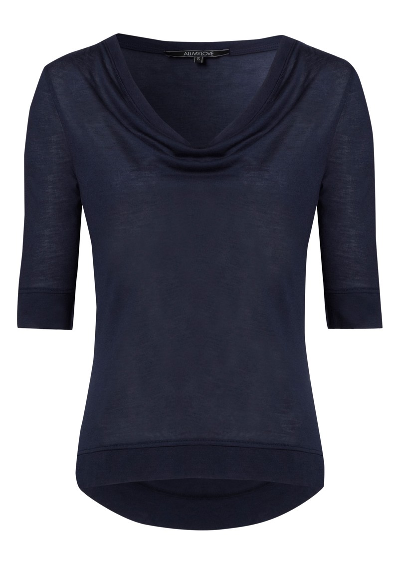 Kate Cashmere Mix Tee - Navy main image