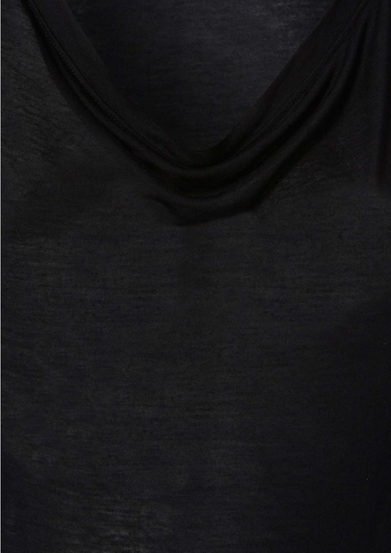 Verity Cashmere Mix Tee - Black main image