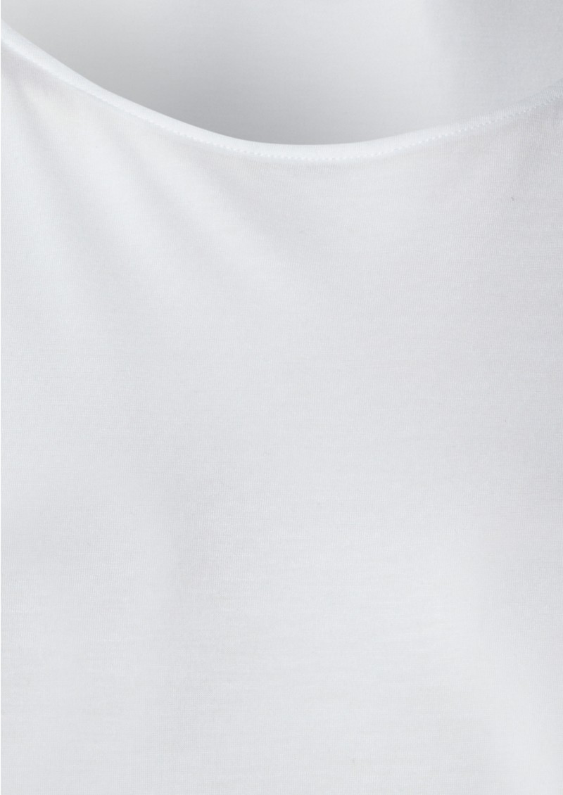 Alice Cashmere Mix Stripe Tee - White main image