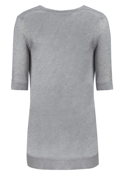 All My Love Kate Cashmere Mix Tee - Grey main image