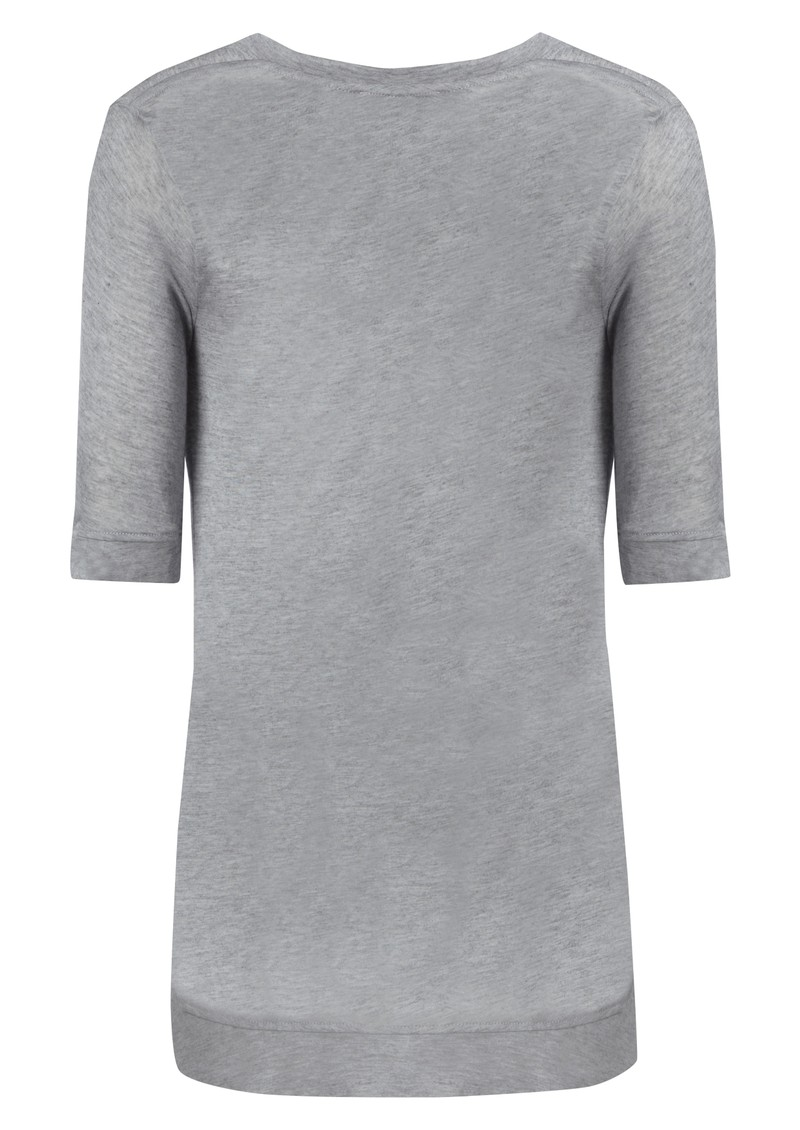 Kate Cashmere Mix Tee - Grey main image