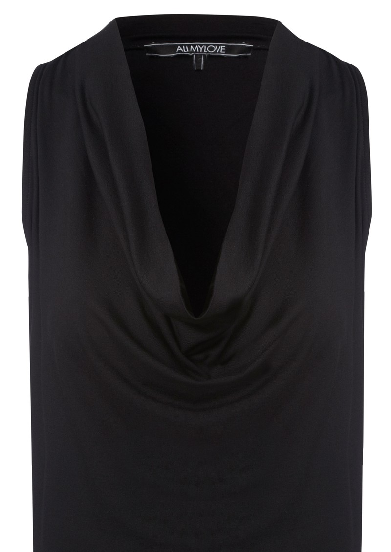 Annabel Cashmere Mix Vest Dress - Black main image