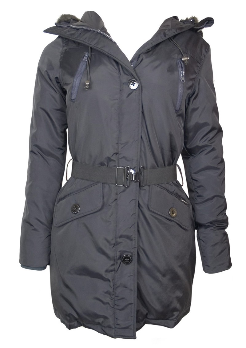 maison scotch parka coat blue black. Black Bedroom Furniture Sets. Home Design Ideas