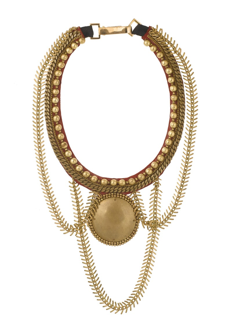 Chala Necklace - Red & Gold main image
