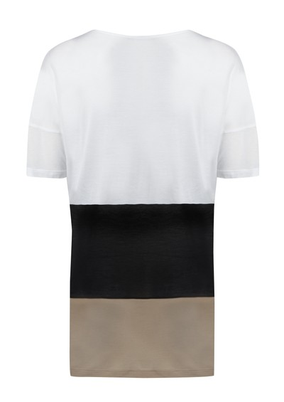 All My Love Alice Cashmere Mix Stripe Tee - White main image
