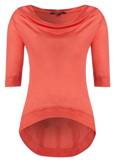 All My Love Kate Cashmere Mix Tee - Coral main image