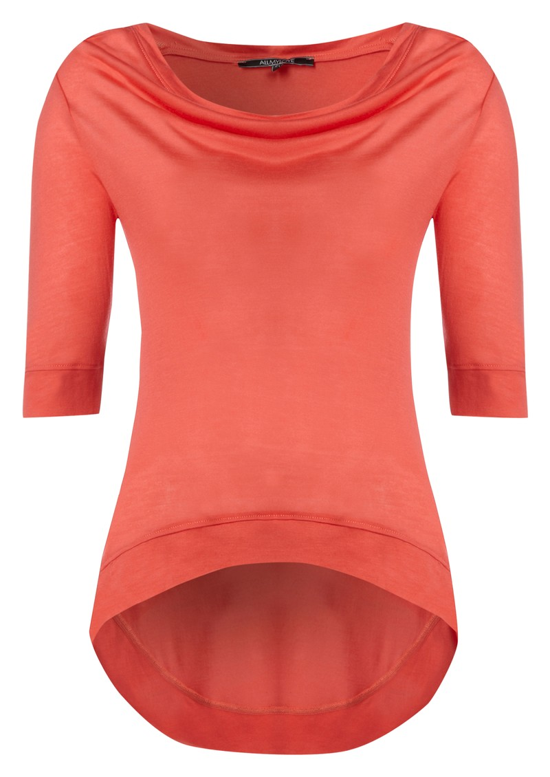 Kate Cashmere Mix Tee - Coral main image