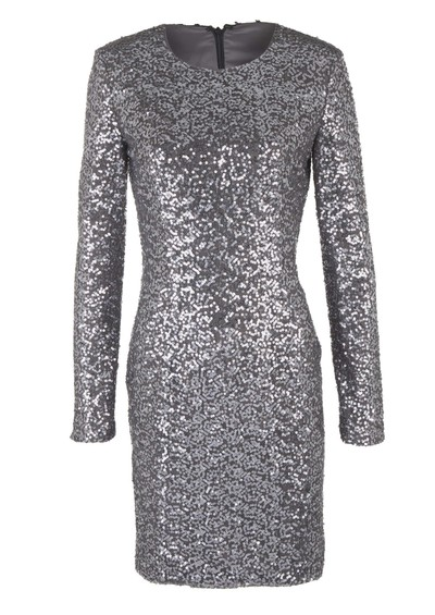 Project D Claudia Sequin Dress - Gun Metal main image