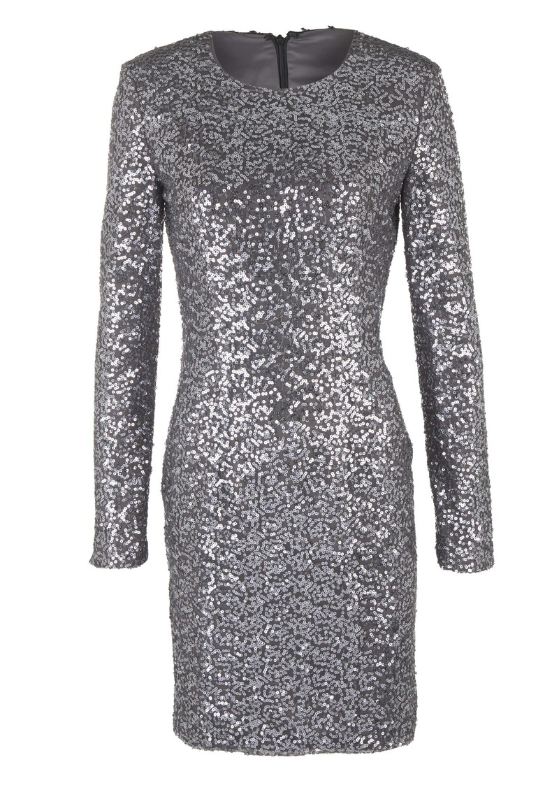 Claudia Sequin Dress - Gun Metal main image
