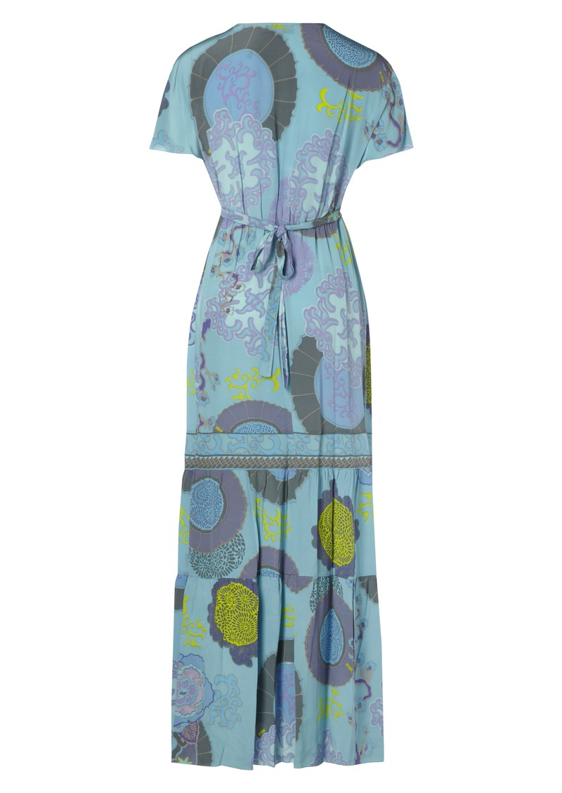 Maxi Silk Dress - Blue main image
