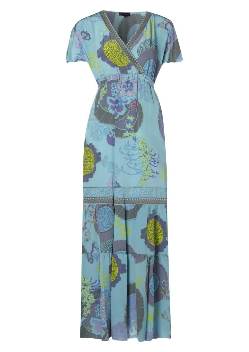 Hale Bob Maxi Silk Dress - Blue main image