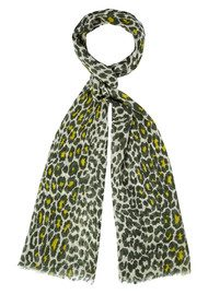 Safari Wool & Silk Mix Scarf - Moss