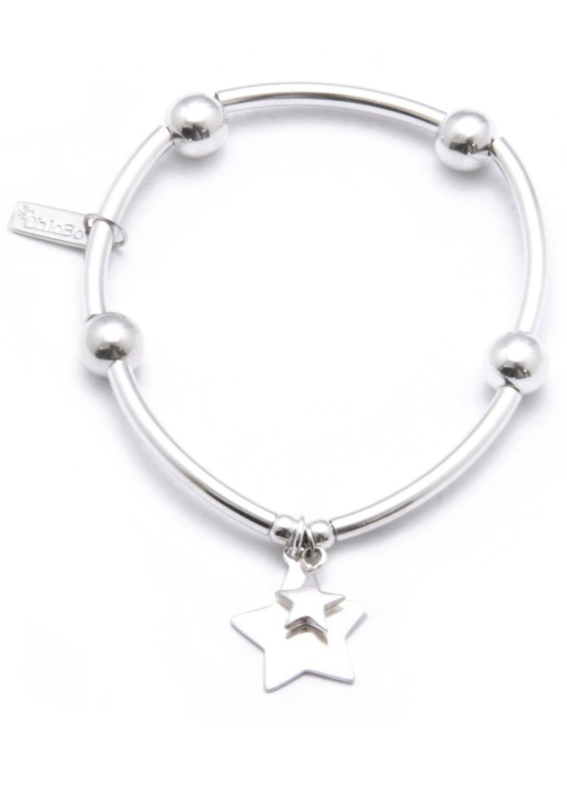 ChloBo Noodle Ball Bracelet With Star Charms main image