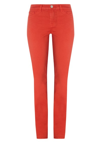 J Brand 811 Midrise Skinny Leg Jean - Blood Orange main image
