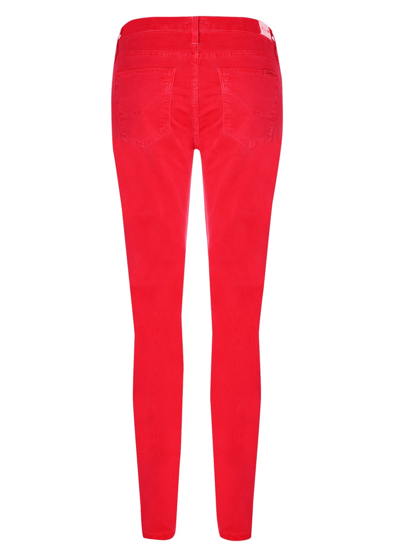 Nico Mid Rise Super Skinny Jeans - Cherry Red main image