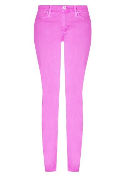 Hudson Jeans Nico Mid Rise Super Skinny Jeans - Lavender main image