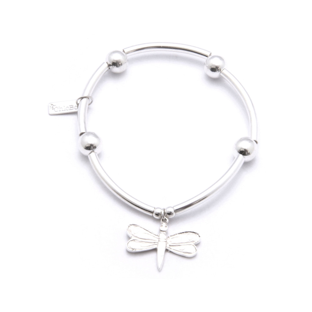 Noodle Ball Bracelet With Dragonfly Charm