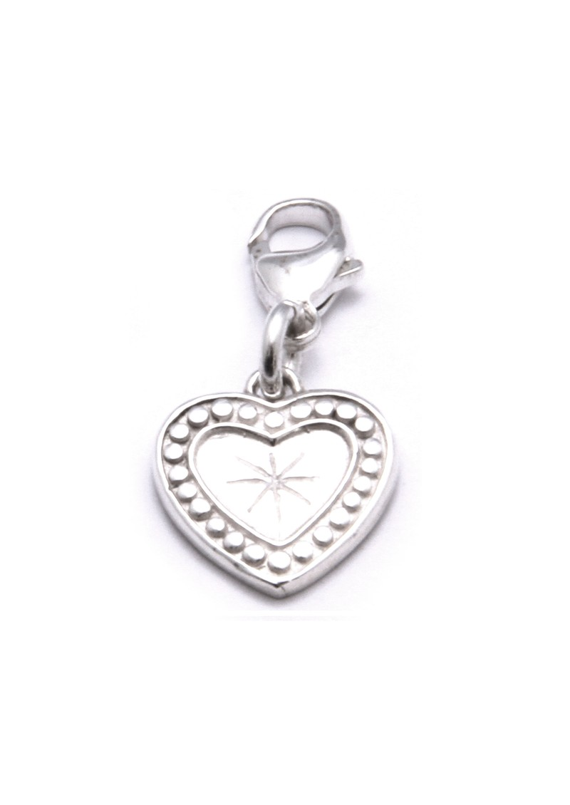 Star Heart Pendant Charm - Silver main image