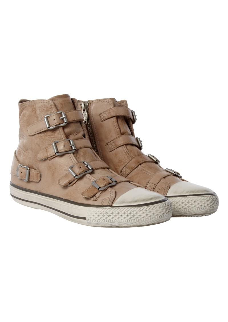 Ash Virgin Leather Buckle Trainers  - Clay main image