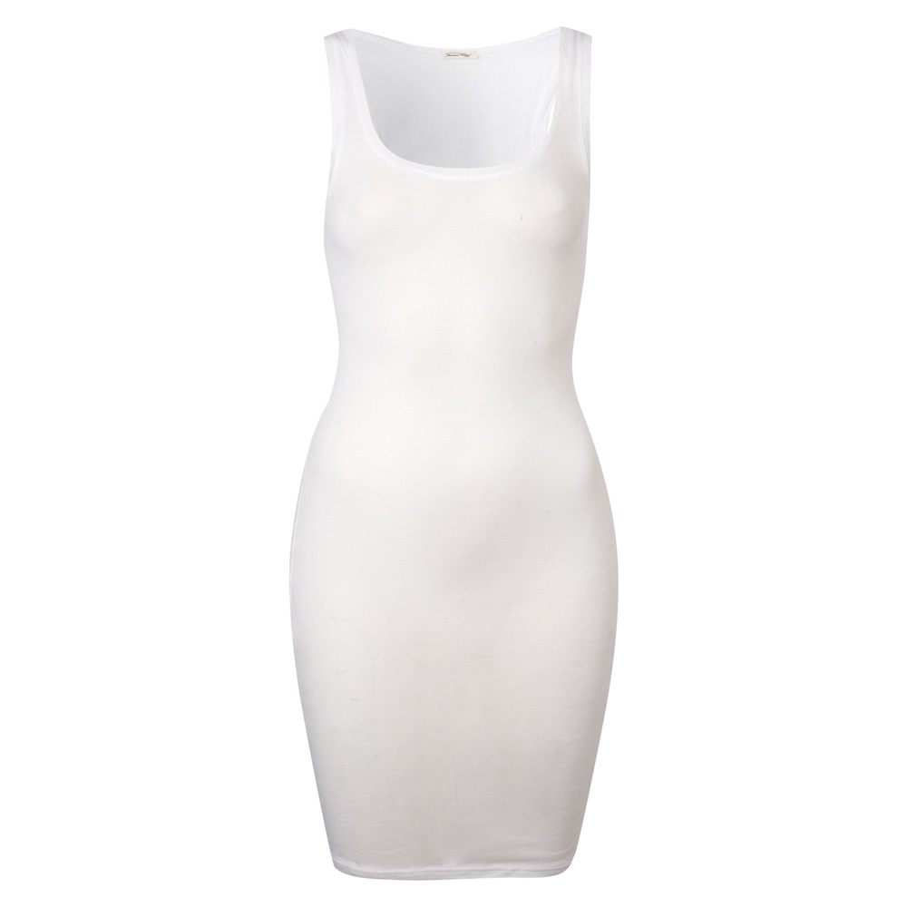 Massachussetts Sleeveless Dress- White