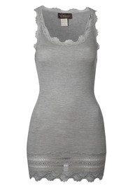 Rosemunde Wide Lace Silk Blend Vest - Grey