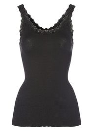 Rosemunde Silk Blend Lace Vest - Black