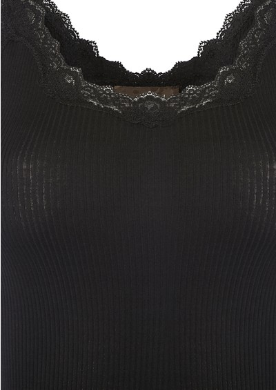Rosemunde Silk Blend Lace Vest - Black main image