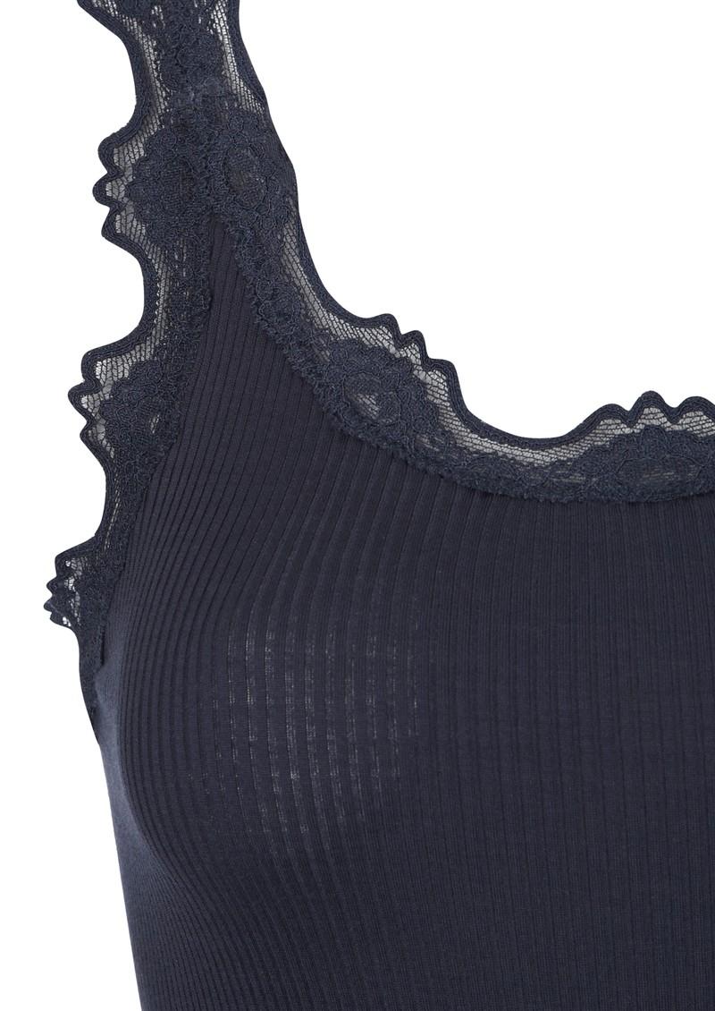 rosemunde wide lace silk blend vest blueberry. Black Bedroom Furniture Sets. Home Design Ideas