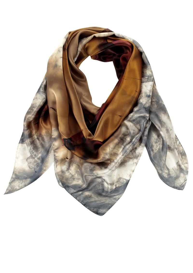 Weston Scarves Brazilian Silk Scarf - Grey main image