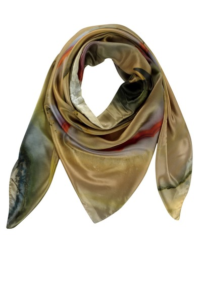 Weston Scarves Brazilian 1 Silk Scarf - Beige main image