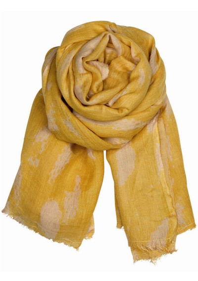 Becksondergaard Broken Heaven Silk & Wool Mix Scarf - Curry main image